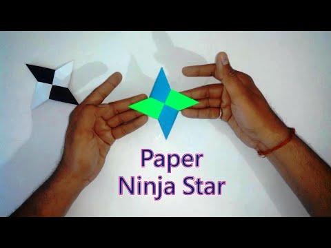 How to Make Origami Ninja Star   Easy Paper Ninja Star For Kids