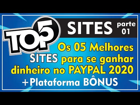 TOP 5 MELHORES SITES PARA GANHAR DINHEIRO NO PAYPAL - PARTE 1 | 2020✔️