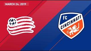 New England Revolution vs. FC Cincinnati | HIGHLIGHTS - March 24, 2019
