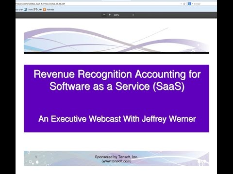 Revenue Recognition Accounting for SaaS (Software as a Service)