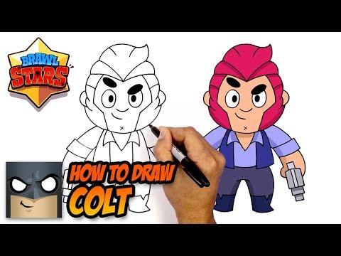 How To Draw Brawl Stars Colt Step By Step Youtube