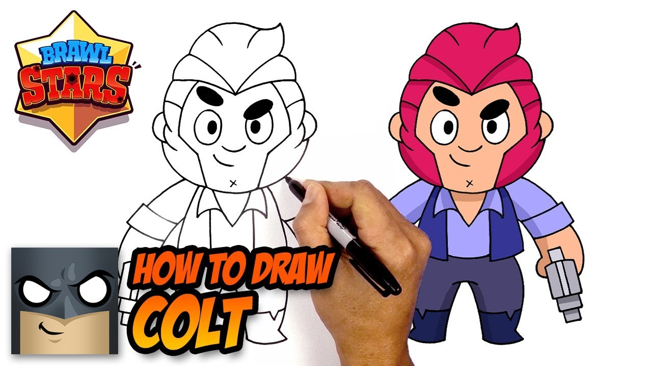 How To Draw Brawl Stars Colt Step By Step Youtube