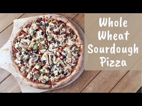 Whole Wheat Sourdough Pizza - From Scratch - With Delicious Vegan Cashew Cheese Sauce