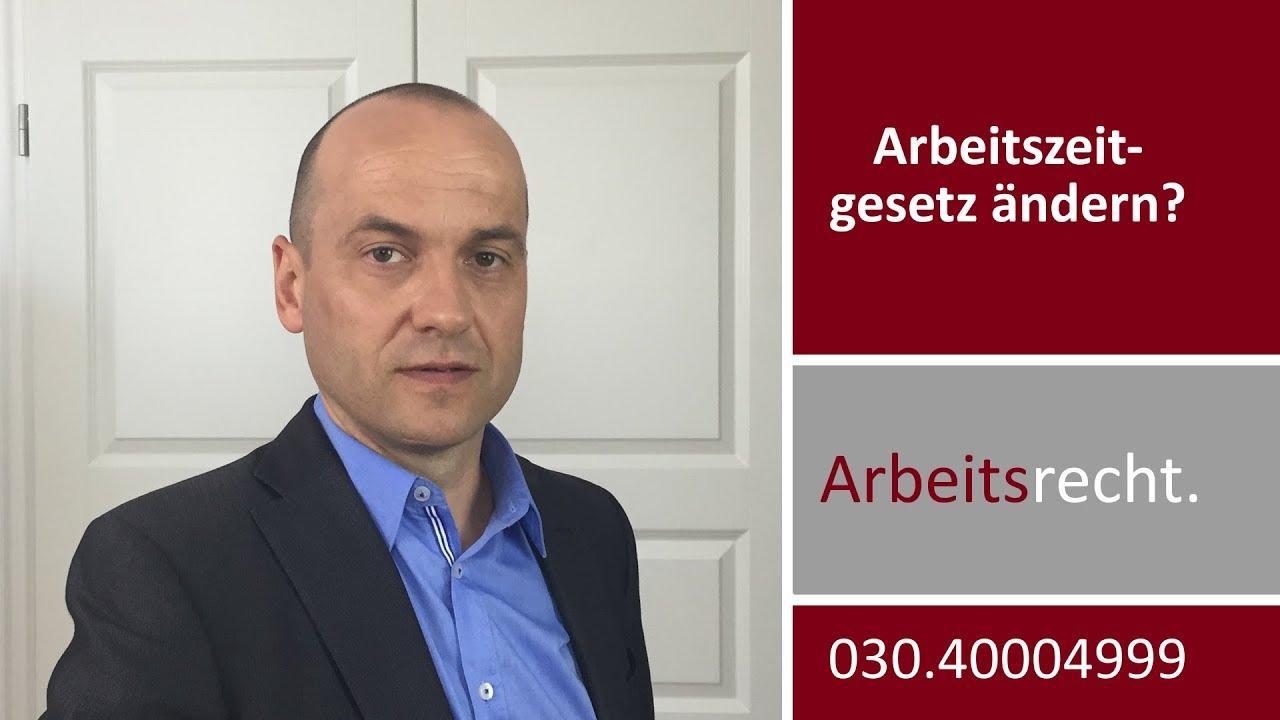 Arbeitszeitgesetz ändern Nachtrag Zum Sat1 Auftritt Vom 14112017