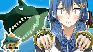 Anime shark girl terrorizes city! [Shark Simulator]