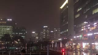 [4K 타임랩스] 비오는 날 판교 유스페이스 광장  (…