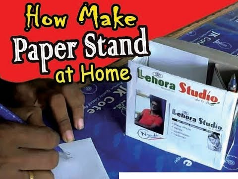 Paper Stand||how make paper stand at home
