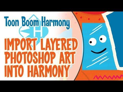 Importing Adobe Photoshop Art Into Toon Boom Harmony