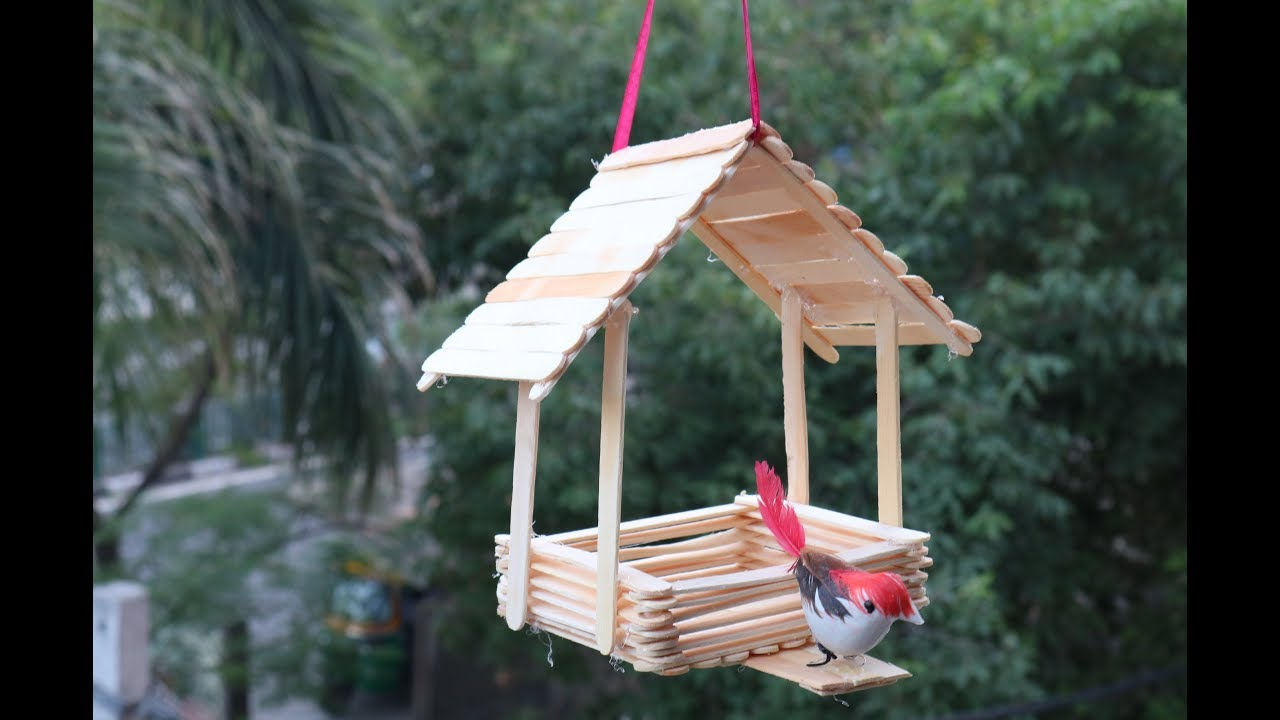 Diy Best Out Of Waste Ideas Making Bird House Wall Hanging Home