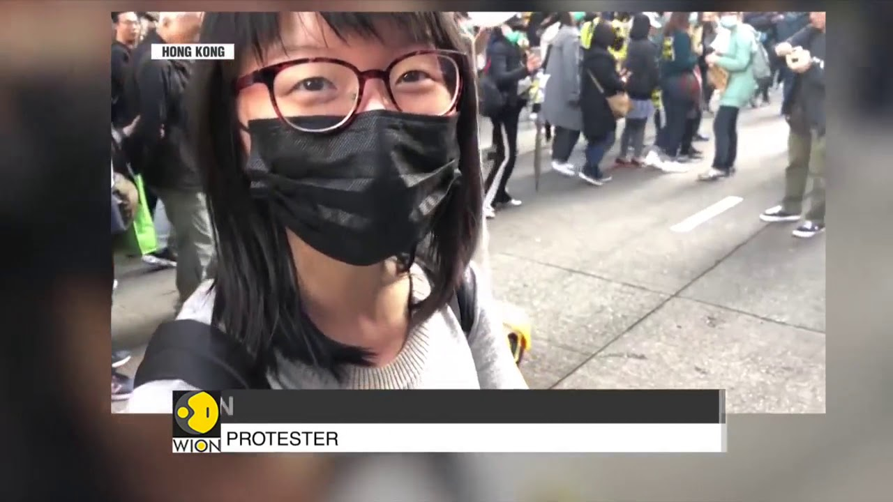 Protests Resume in Hong Kong: Protesters form a human chain of 2 Kilometres