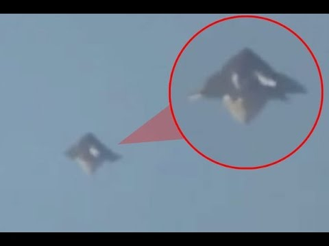 breaking weird shape ufo caught on camera over los