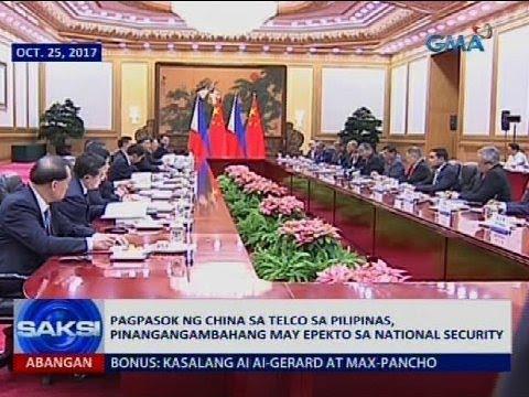 Papasok ng China sa telco sa Pilipinas, pinangangambahang may epekto sa national security