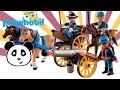 Playmobil en español  Coche con caballos y can?ones