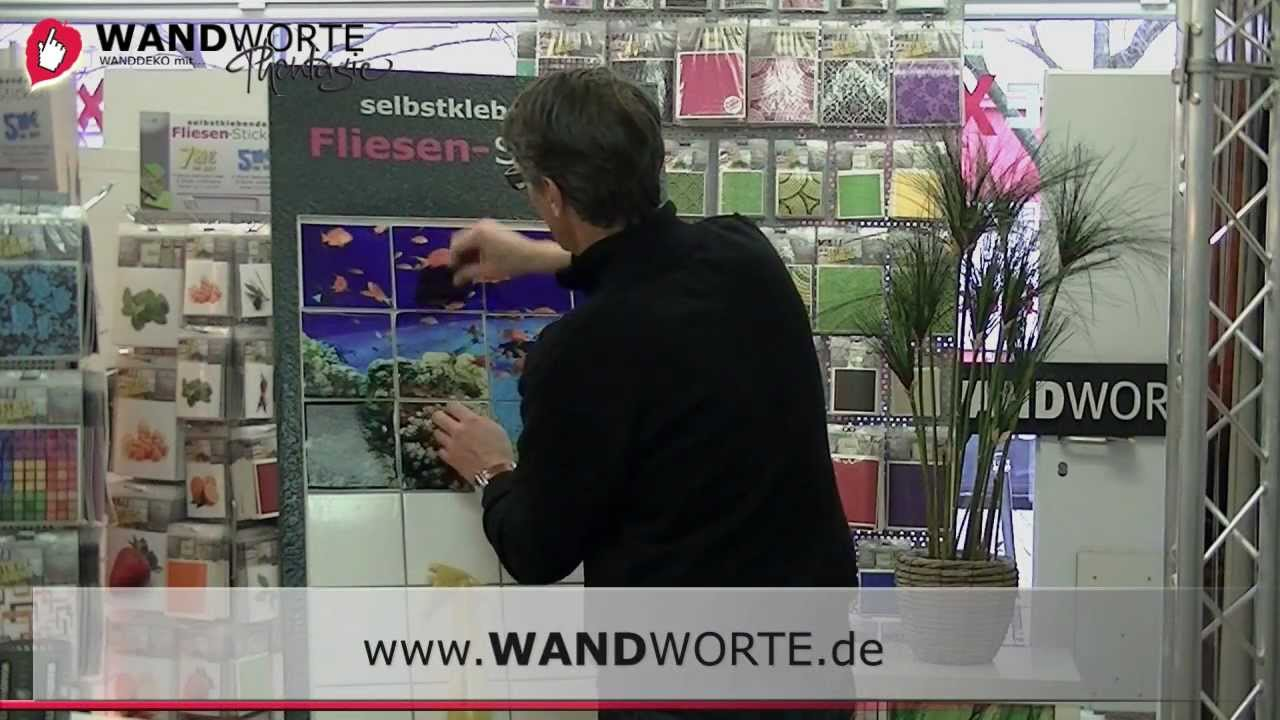fliesensticker blasenfrei kleben montage video mit. Black Bedroom Furniture Sets. Home Design Ideas