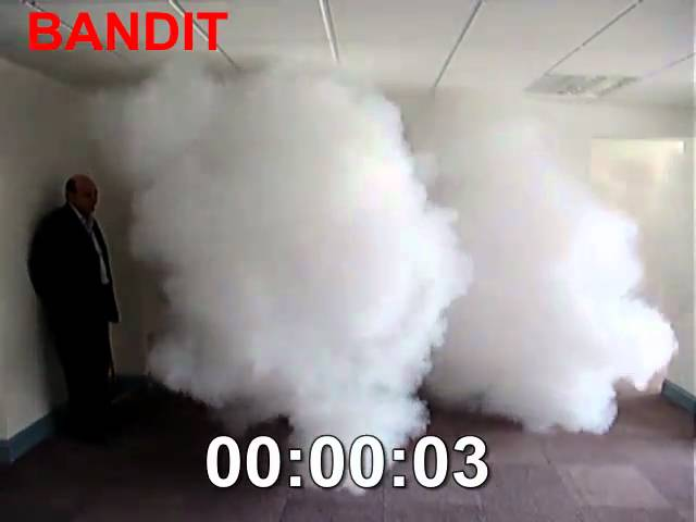 Fog Bandit - security fog NOT security smoke - Stop Theft from an office!