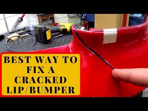 How to fix a cracked car lip/bumper Rebuild part 5
