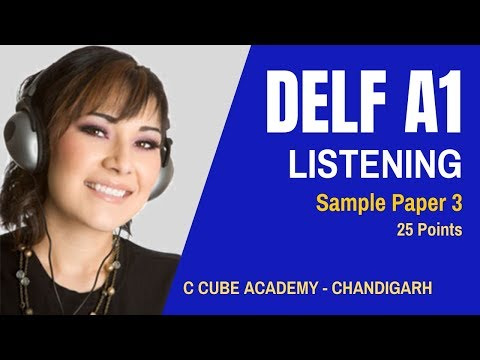DELF A1 Comprehension Orale Sample Paper 3 | DELF A1 Listening Practice Test Online