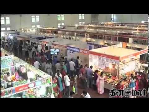 Heavy Crowd Smart Shopper by Dinamalar at Kovai - Dinamalar Oct 14th 2013 News in Video