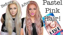 DYING MY HAIR PINK/LILAC USING SCHWARZKOPF LIVE LIGHTENER + TWIST 104 COOL LILAC | ELLIE KING