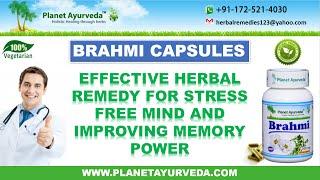 Brahmi Capsules - Effective Memory Enhancement & Stress Relieving Herbal Supplement