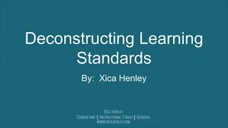 How to Deconstruct Learning Standards