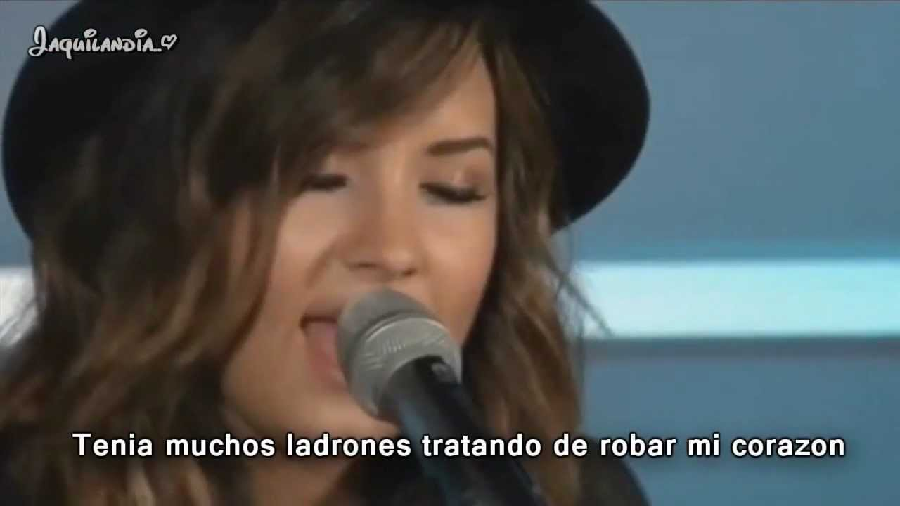 Demi Lovato- How to love- subtitulado español- Live acoustic
