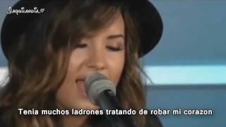Demi Lovato- How to love- subtitulado español- Live acoustic