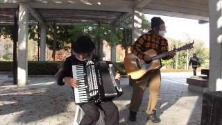 青い山脈 演奏:アコーディオンとギター T.Hayashi & K.Makihara