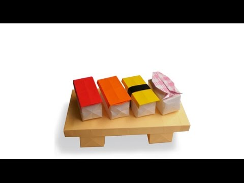 sushi origami origami of sushi is simple youtube
