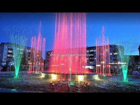 Dia 14m Multimedia Music Dancing Fountain in Russia(Suzhou Gold Ocean)