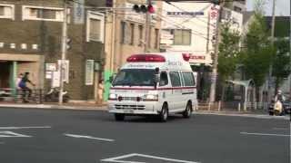 特定救急現場に現着する、神戸市中央市民病院ドクターカーです。 災害現...
