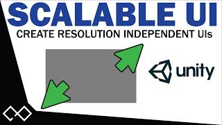 Scalable UI Tutorial - Create Menus For Any Resolution in Unity   Scalable Canvas Settings in Unity