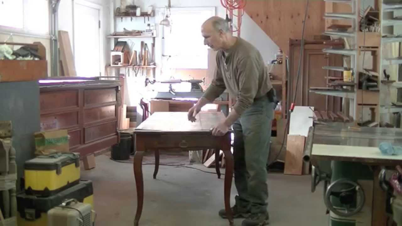 Repairing The Top Of A French Provincial Farm Table U2013 Thomas Johnson  Antique Furniture Restoration