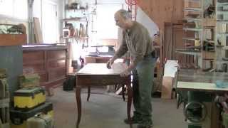 Repairing The Top Of A French Provincial Farm Table – Thomas Johnson Antique Furniture Restoration
