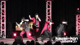 """AKINO and bless4 LIVE at Kawaii Kon 2012 performing """"Sousei no Aqua..."""