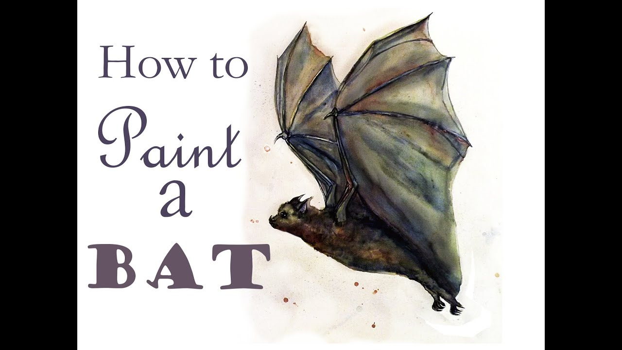 How To Paint A Bat Art Journal Youtube