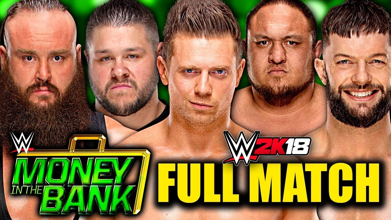 WWE Money In The Bank 2018 Men's Ladder Match SIMULATION & Predictions!  (WWE 2K18)