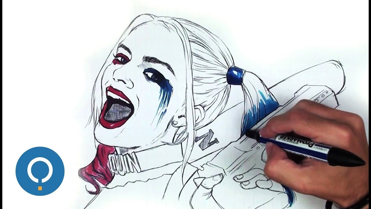 Dibujar a harley quinn speed drawing youtube for Imagenes de jarli cuin