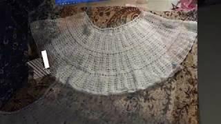 ажурная туника крючком из хб ниток 3ч росток и подрезы