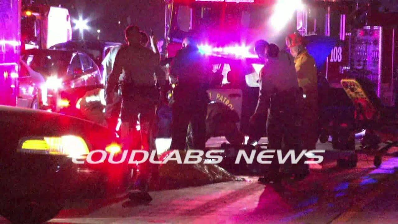 Motorcyclist Dies In Freeway Crash / Bell Gardens RAW FOOTAGE. LOUDLABS NEWS