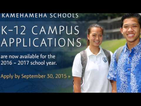 Kamehameha Schools 2016-17 Campus Applications commercial