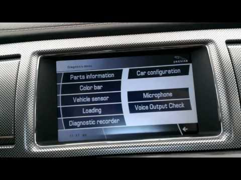 Jaguar XFR hidden menu