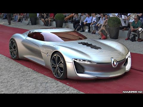 Renault Trezor Concept - Driving, Overview, Unique Features & Loading Into a Truck!