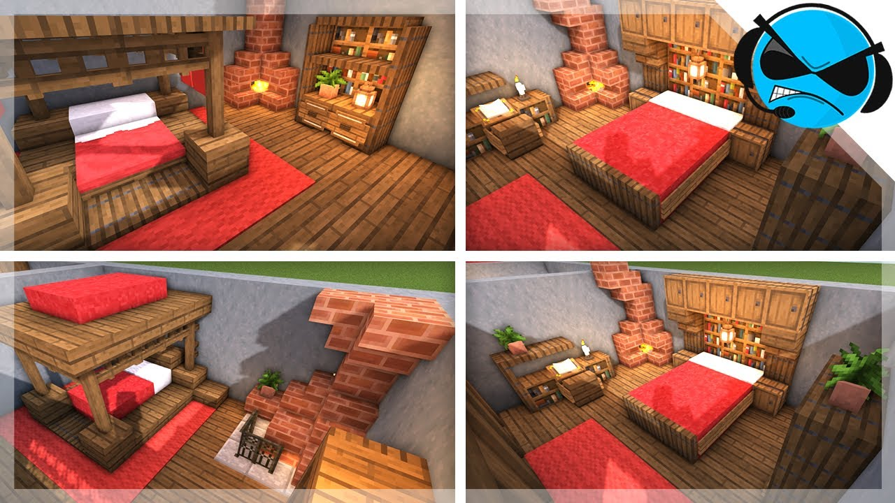 Minecraft: 5 Medieval Bedroom Designs Ideas For 1.14 - YouTube