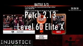 Injustice Gods Among Us iOS - Patch 2.13 Level 60 Elite X