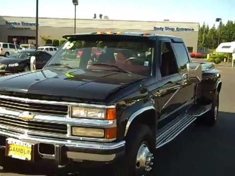 SOLD-1995 Chevrolet Silverado 3500 Dualley Black Enumclaw ...