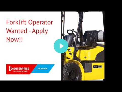 Forklift Operator Wanted - Apply Now!!