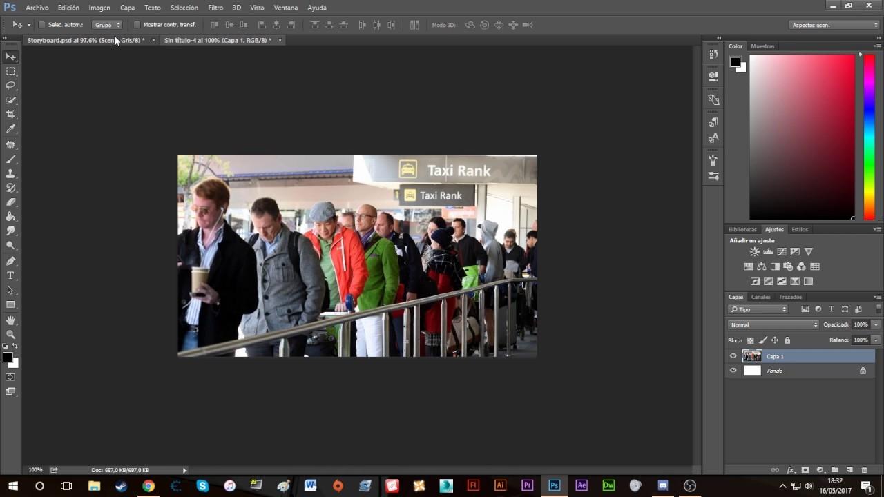 Tutorial Adobe Photoshop - Realizar un Storyboard sin saber dibujar ...