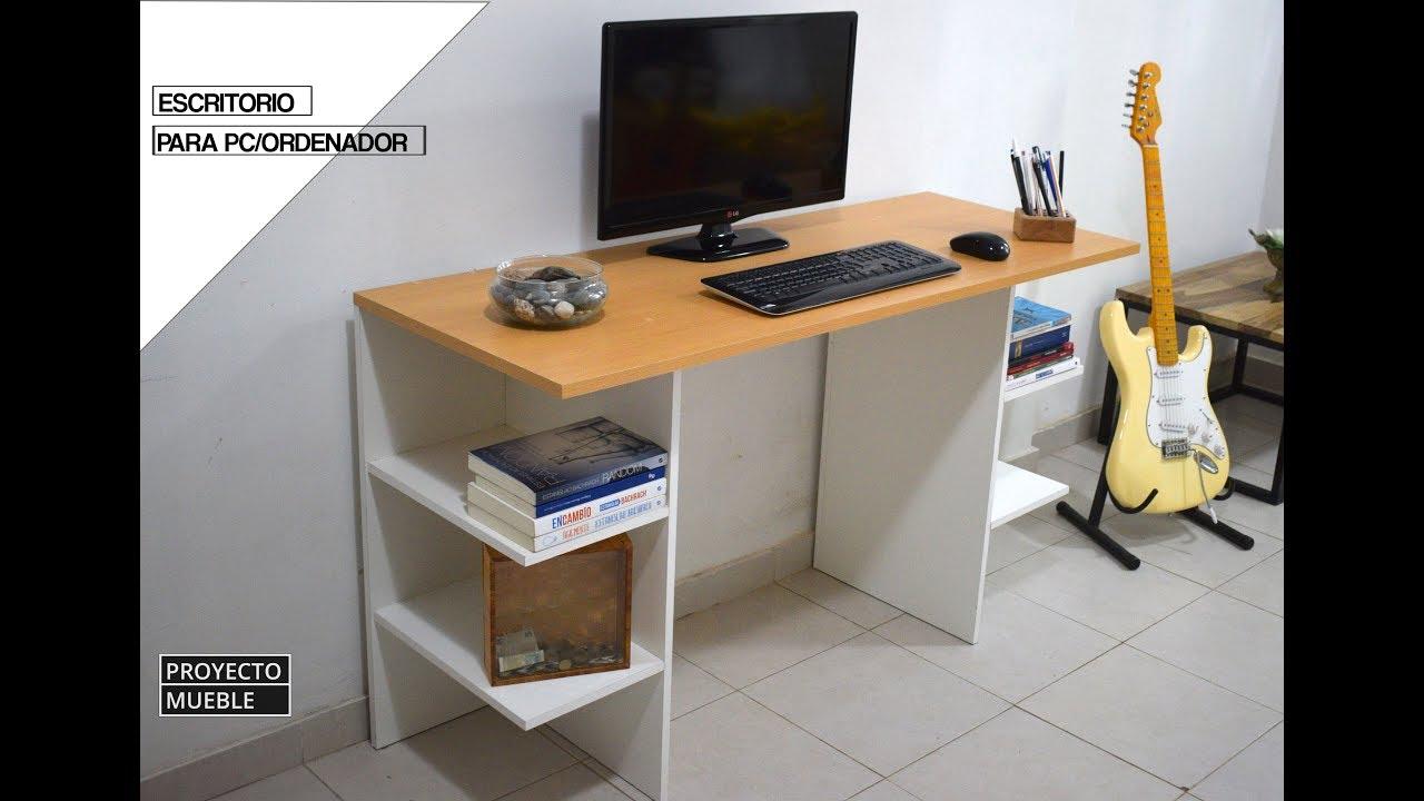 Escritorio de melamina facil de hacer easy computer for Software para fabricar muebles de melamina