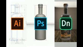 Download Create 3D objects (.OBJ) using Illustrator & Photoshop for Adobe Dimension product mock-ups Mp3 and Videos